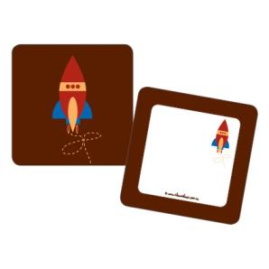 Red Rocket Square double sided gift tags