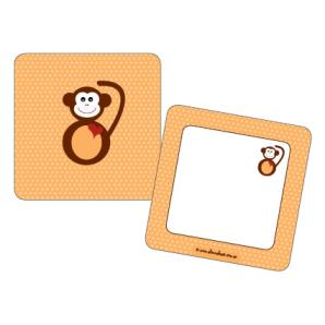 Monkey Face 1st Birthday Gift Tags