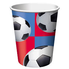 All star soccer party paper cups