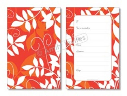 Autumn Red Leaf Party Occasion Invitations
