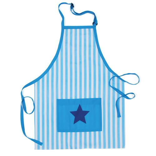 Baking Cooking Apron Blue striped kids