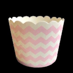 baby pink chevron baking cups