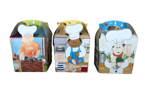 Cupcake party meal boxes set