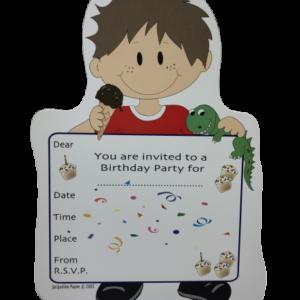 Dinosaur Boy Birthday Party Invitations