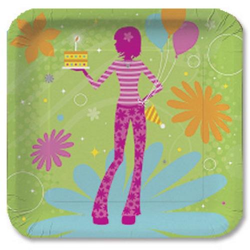 Teen Birthday party plates