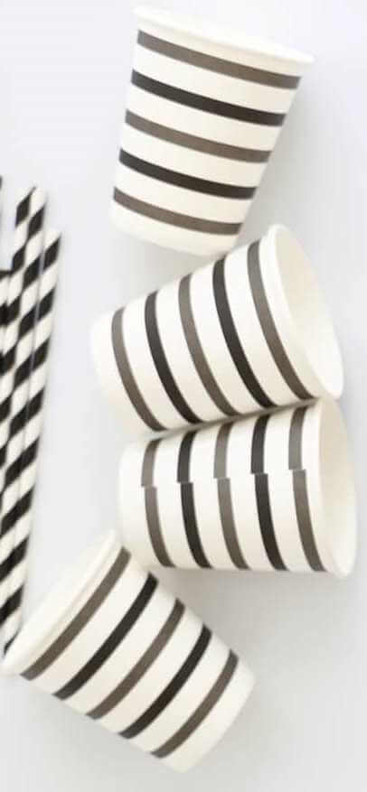 Black and Grey Paper cups
