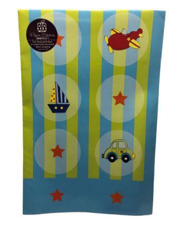 Baby Shower Speed Star Baby Shower Gift Wrap Sheet