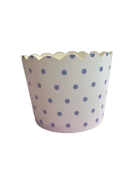Pale blue polka dot baking cups