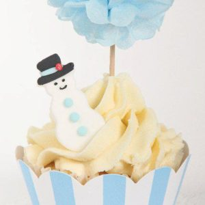 Blue Striped Cupcake Wrapper