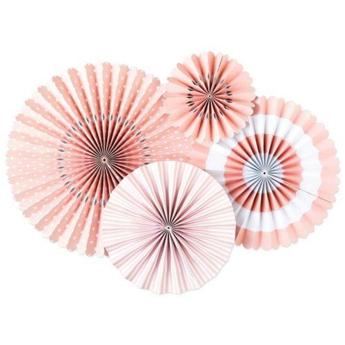 Blush Pink Paper Fans