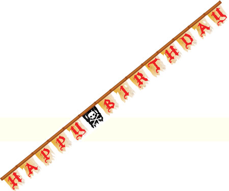 Pirate Party Buried Treasure Happy Birthday Jointed Banner