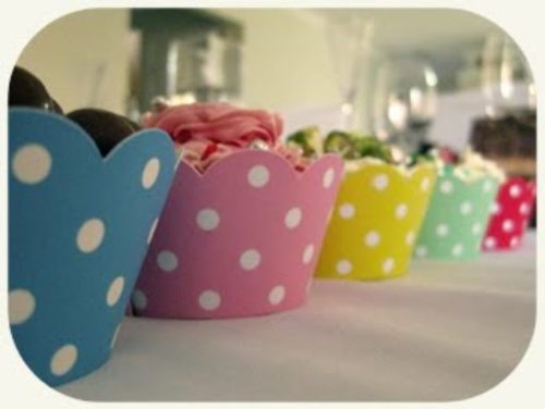 Pink Spotted Cupcake Wrappers