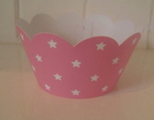 Pink Star Cupcake Wrapper