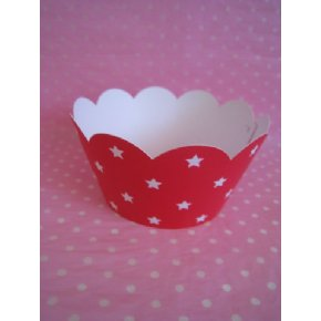 Red Star Cupcake Wrappers