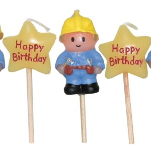 Builder Construction Candles