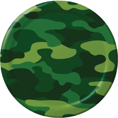 Army camo paper plates