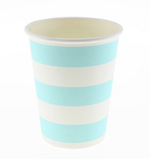 thick candy striped paper cups Sambellina