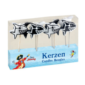 Shark Pirate Captain candles