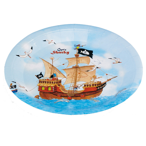Pirate Captain Sharky Paper Plates