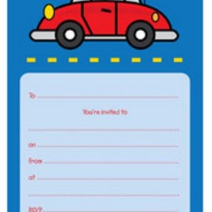 Red Car party invitations