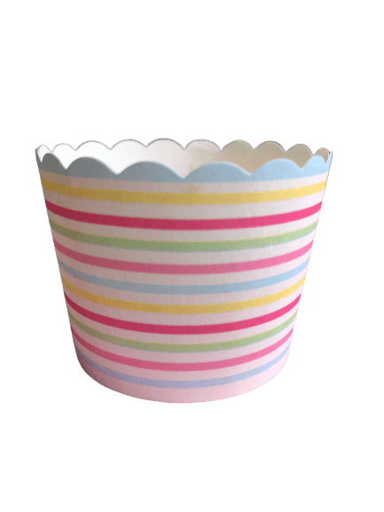 Carnival rainbow striped baking cups
