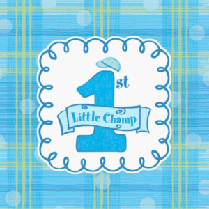 1st birthday boy design napkins