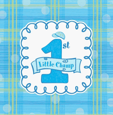 1st birthday boy design napkins