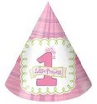 Pink Little Princess 1st Birthday Party Hats