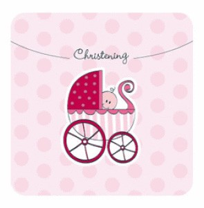 Pink Christening Invitations