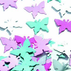 metallic butterfly confetti