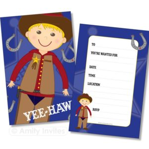 Cowboy Outback Rodeo Party Invitations