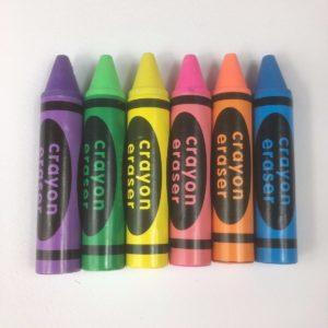 Crayon erasers set