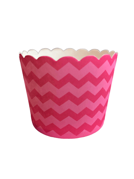 Pink Chevron baking cups