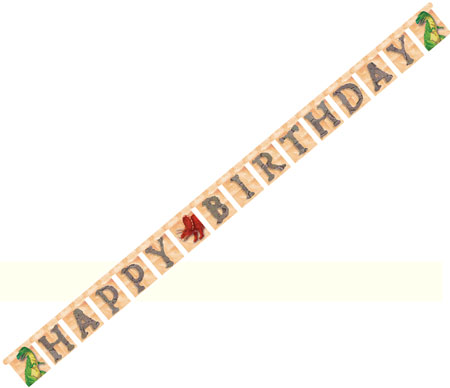 Dinosaur Happy Birthday Jointed Banner