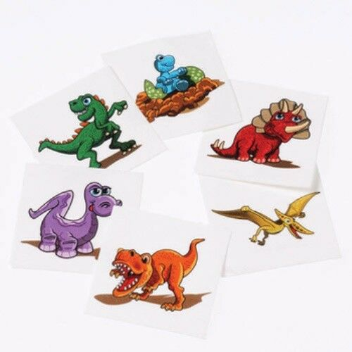 Dinosaur mini temporary tattoos