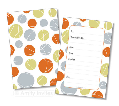 Polka Dot Spotted Party Occasion Invitations