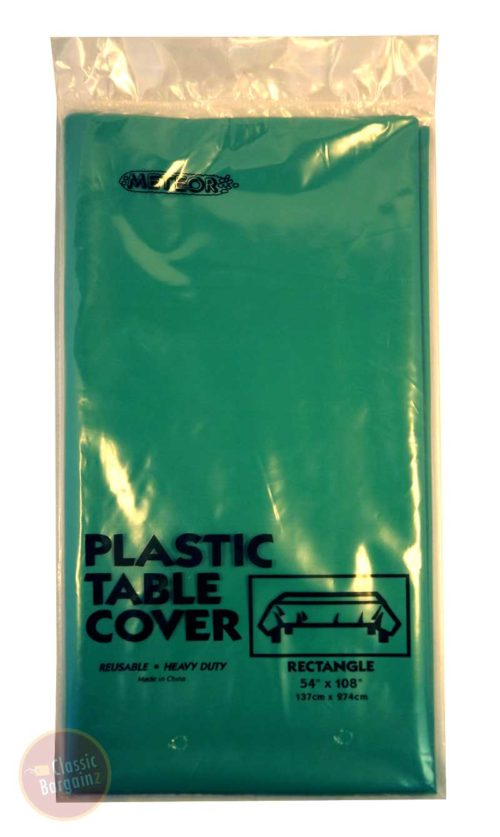 Emerald Green Rectangle Plastic Table Cover