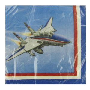 Fighter Pilot Jet Plane Napkins