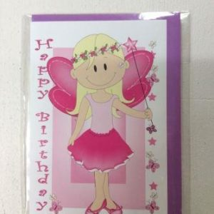 Fairy Princess Happy Birthday Greeting Card