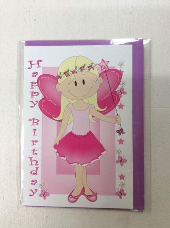 Fairy Princess Happy Birthday Greeting Card