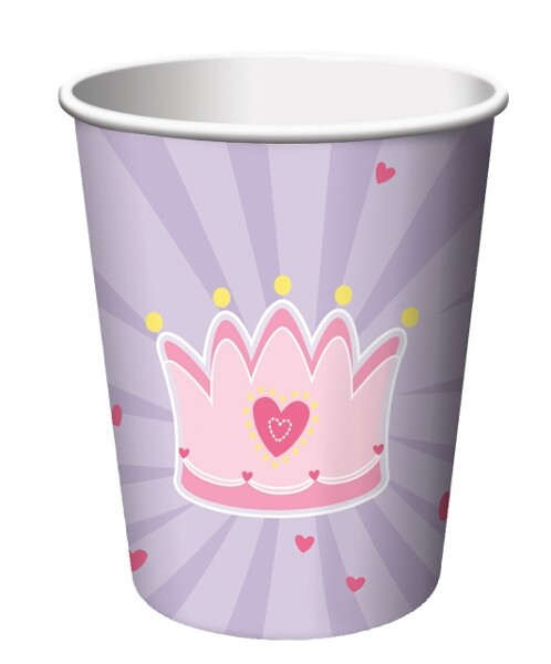 fairy tale princess crown paper cups