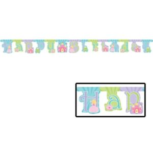 Fairytale Princess Happy Birthday Jointed Banner