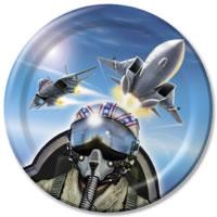 Plane Pilot Top Gun Paper plates