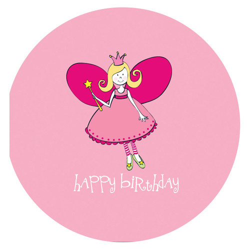 Fairy Wishes Pink Birthday Greeting Card