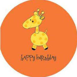 Baby Shower Giraffe Birthday Greeting Card