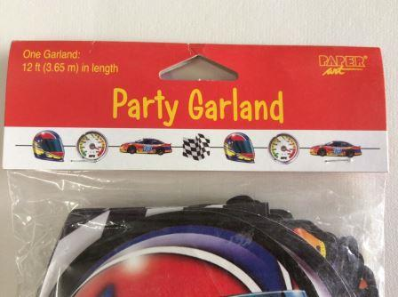 Start Your Engines Car Racing Party Garland
