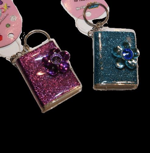 flower gem mini keychain notepads