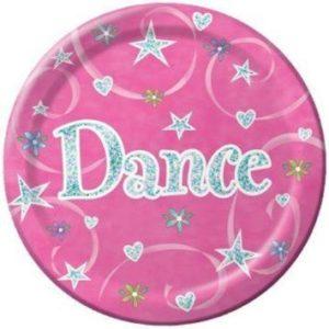 Pink Dance Birthday Dinner Plate