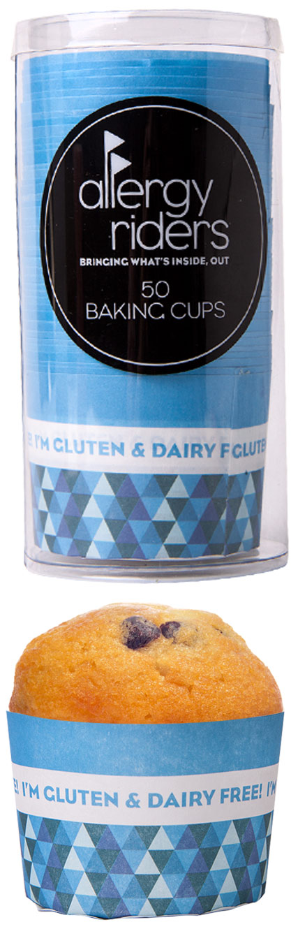 Allergy warning baking cup cases gluten dairy free