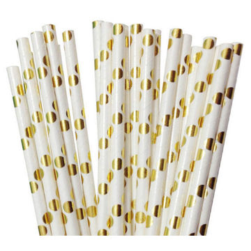 gold spot paper straws